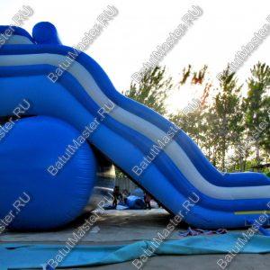 """Надувная горка """"Волна"""", размер 12х7х9 м."""