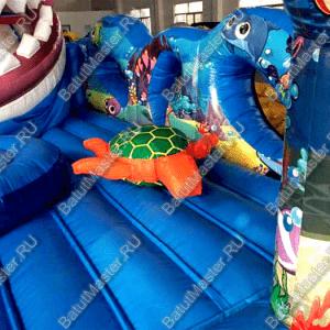 "Надувной батут ""Акула-робот"", размер 12*6*6 м"