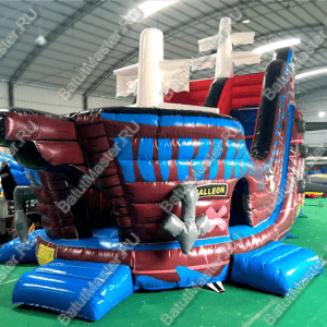 """Надувной корабль """"Пират Генри Морган"""", размер 10*6*7 м"""