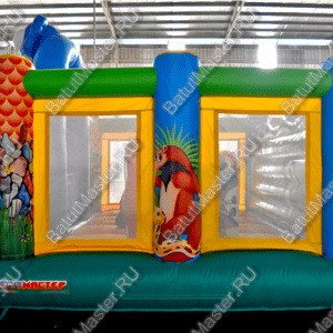 """Надувной батут """"Зверинец"""", размер 4.5*4.5*3 м"""