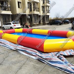 """Надувной бассейн """"Полосатик"""" 6*4*0.5 м."""
