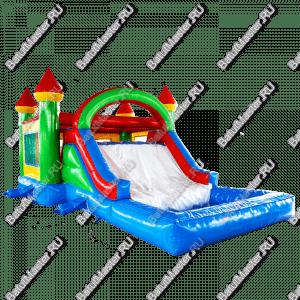 """Надувной батут """"Домик с бассейном"""", размер 8*5*4 м"""
