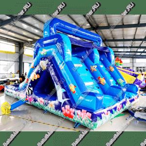 """Горка с бассейном """"Коралловые рифы"""", размер 9*4*5 м"""