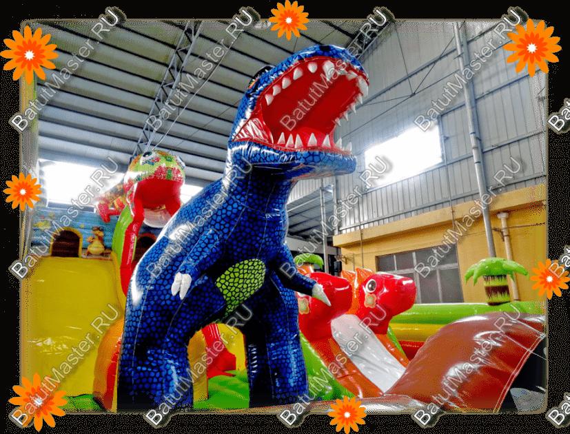 """Надувной батут """"Хамелеон и динозавры"""""""