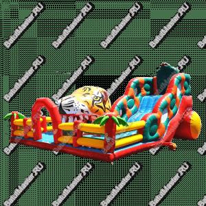 """Надувной батут """"Кобра эконом с роботом"""", размер 11*12*7 м"""