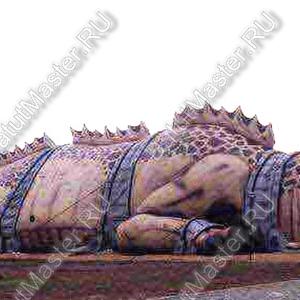 """Надувная комната страха """"Дракон"""", 40-16-10 м"""
