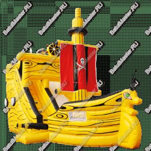 """Надувной батут """"Желтый кораблик"""", размер 10*5*5 м"""