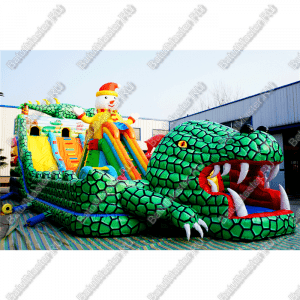 """Надувной батут """"Большие крокодилы"""". размер 18*8*7 м"""