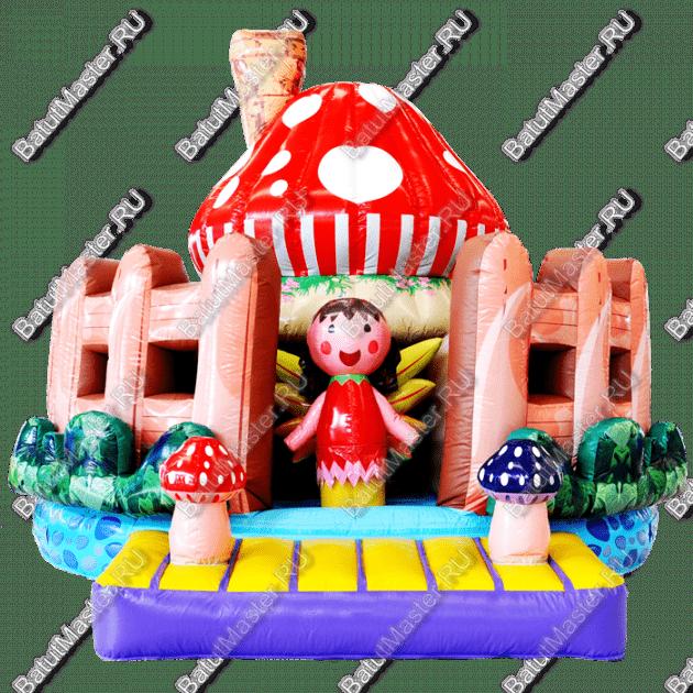 """Надувной батут """"Маленькие грибники"""", размер 5*5*3.5 м"""