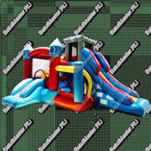 """Надувной батут """"Домик приключений"""", размер 5*3.5*2.5"""