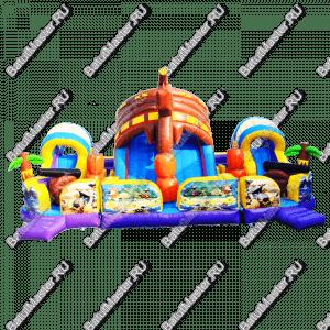 """Надувной батут """"Искатели сокровищ"""", размер 10*11*5.7 м"""