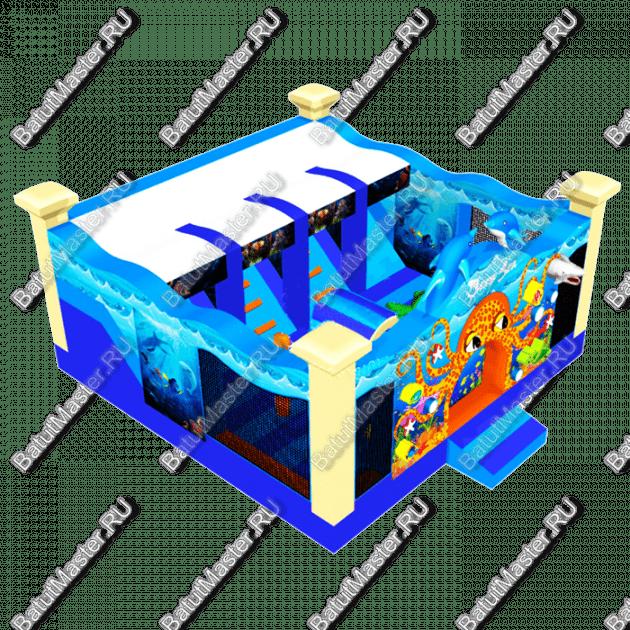 """Надувной батут """"Подводный мир"""", 6-6-3.5"""