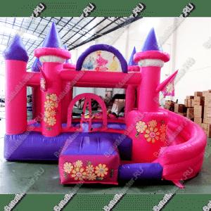 "Надувной батут ""Розовый замок"", размер 4.5*3*2.5 м"