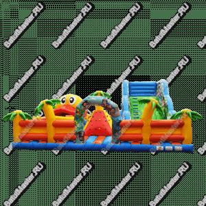 """Надувной батут """"Братство пиратов с роботом"""", размер 12*12*7 м"""