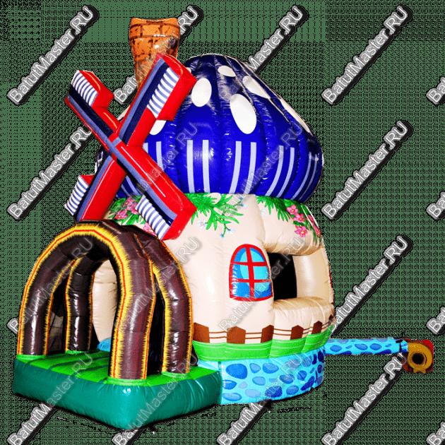 """Надувной батут """"Грибной домик"""", размер 3*4*4.5 м"""