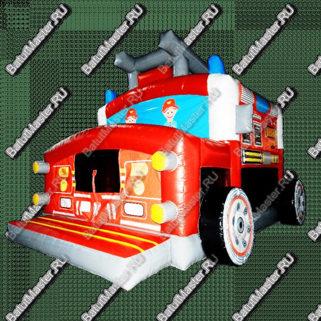 """Надувной батут """"Пожарный автомобиль"""", размер 8*5*4.5 м"""