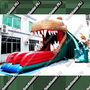 """Надувная горка """"Пасть динозавра"""", размер 12*9*8 м"""
