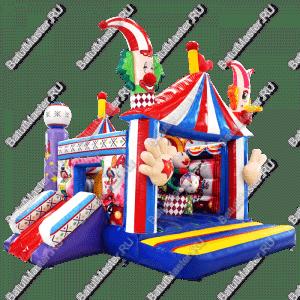"""Коммерческий надувной батут """"Цирковое представление"""", размер 7*5*4 м"""