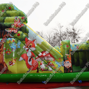 """Надувной батут """"Сафари"""", размер 6*5*5 м"""