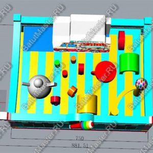 """Модель батута """"Мороженое"""", размер 8x6x3 м."""