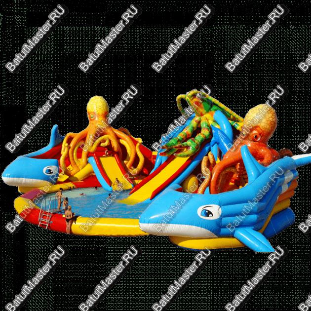 """Надувной аквапарк """"Логово Осьминогов"""", размер 23,5-20-8,7 м"""