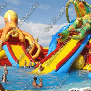 """Надувной аквапарк """"Логово осьминогов"""", 23,5*20*8,7 м"""