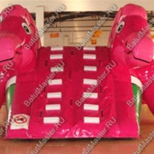 """Надувная горка """"Розовый динозаврик"""", размер 6.5*4*3"""