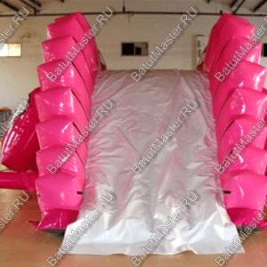 """Надувная горка """"Розовый динозаврик"""", размер 6.5*4*3 м"""