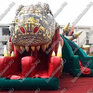 """Коммерческий надувной батут """"Клыкастый динозавр"""" 11*9*8"""
