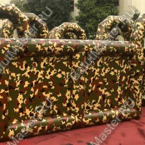 Коммерческий надувной батут «Лабиринт милитари» 12*8*2,5 м