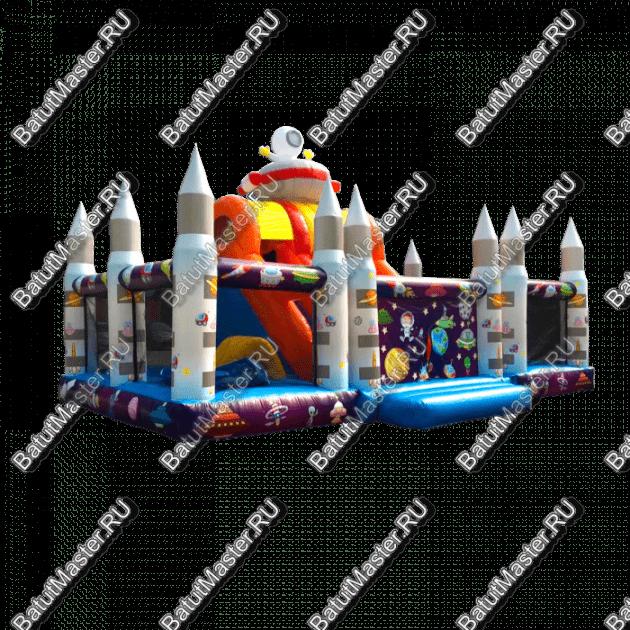 """Коммерческий надувной батут """"Покоряем космос"""" 10х6х4"""