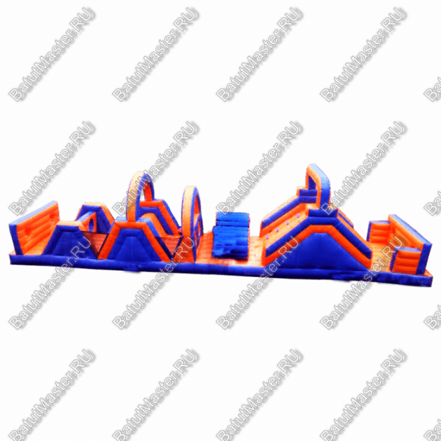 Надувная полоса препятствий «Веселый забег» 15*3*4 м