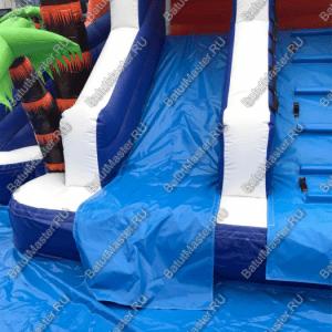 """Надувной водный батут """"Домик у моря"""", размер 10*7*5 м"""