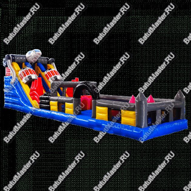 Коммерческий надувной батут «Робот» 16*4*5 м