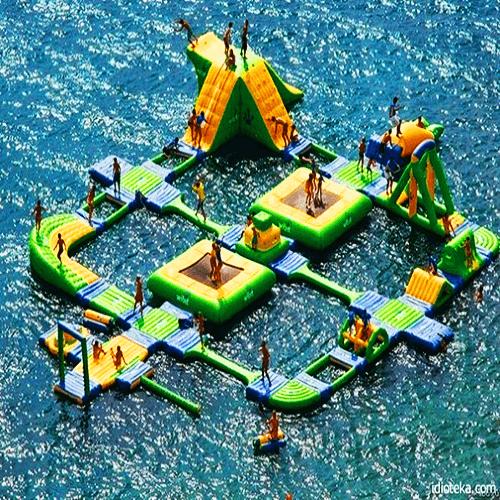 Аквапарки на воде